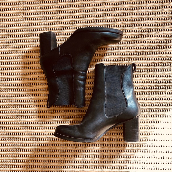 Cole Haan Shoes - Cole Haan Black Leather Heeled Ankle Boots